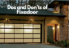 Dos and Don'ts of Fixadoor