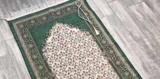 This is multicolored This luxury prayer mat