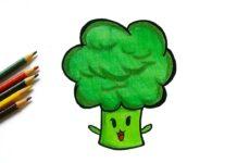 draw a broccoli